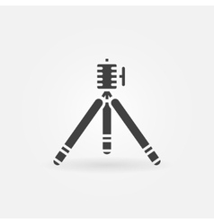 Tripod icon or logo vector