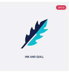 Two color ink and quill icon from greece concept vector