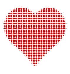 valentine heart halftone icon vector image