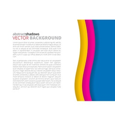 White and rainbow elegant business background vector image