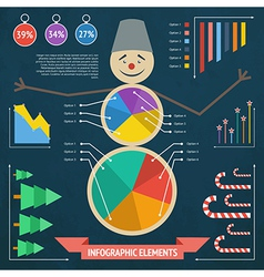 xmas infographic 2 vector image