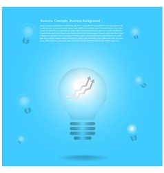 light bulb infographic background vector image