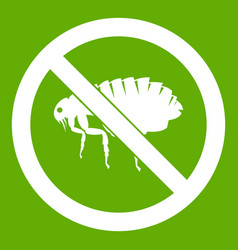 no flea sign icon green vector image