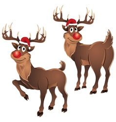 Rudolph The Reindeer Two Poses vector image vector image