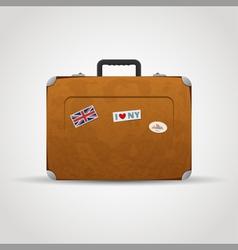 Travel bag icon vector
