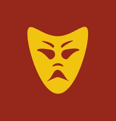 evil mask vector image