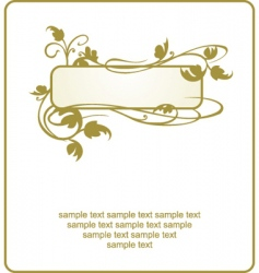 leaf frame vector image vector image