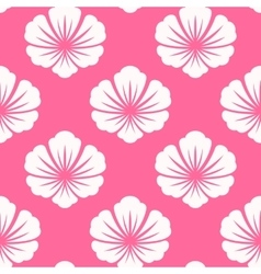 Wallpaper seamless with white flower vector image