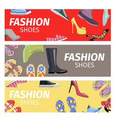 fashion shoes advertising poster vector image vector image