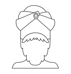 indian man icon outline style vector image