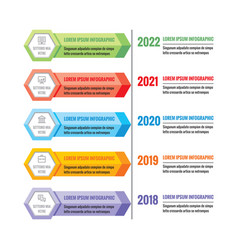 infographic business concept colorful vector image vector image