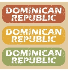 Vintage Dominican Republic stamp set vector image