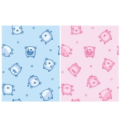 bears seamless pattern vector image vector image