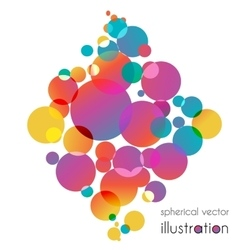 Colorful circles diamond vector image vector image