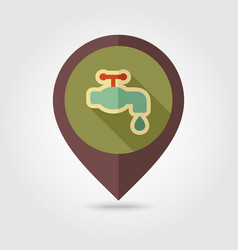 faucet flat pin map icon vector image