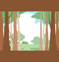 forest trees landscape background vector image vector image