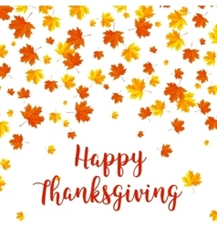 Happy Thanksgiving Day celebrations greeting card vector image