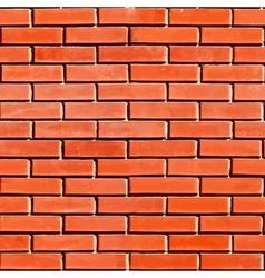 Red Seamless Brickwall vector image