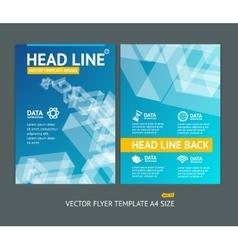 abstract geometric shape brochure flyer vector image