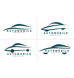 Abstract shapes logo icon for car or automobile vector