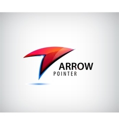 Abstract web logo arrow vector