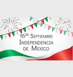announcement about day of independence of mexico vector image