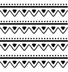 Aztec navajo seamless zig-zag pattern vector