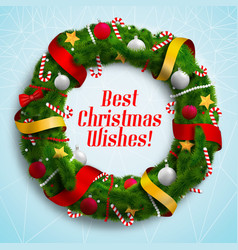 Best christmas wishes background vector