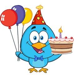 Birthday Bird Cartoon vector