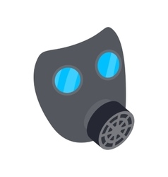 Black gas mask icon isometric 3d style vector image
