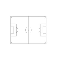 black line art soccer field icon sport isolated vector image