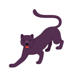Black panther on a white vector