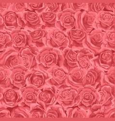 Blush pink rose flower seamless pattern background vector