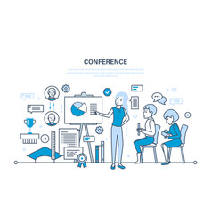 business conference statistical analysis finance vector image