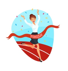 Business victory concept vector