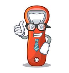 Businessman aluminium bottle opener for design vector