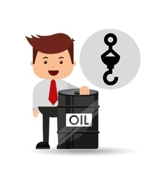 businessman oil industry hook perforation vector image