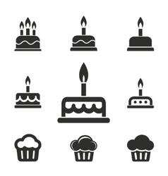 Cake icon set vector