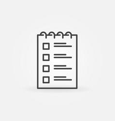 checklist outline icon to do list concept vector image