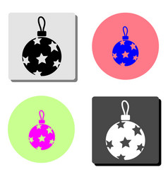 christmass ball flat icon vector image