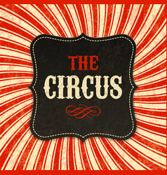 Circus poster background vector