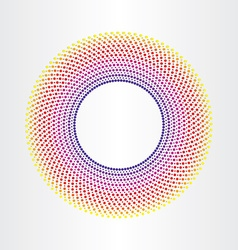 colorful abstract background with circles vector image