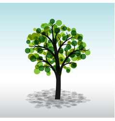colorful green tree on a light background vector image