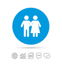 Couple icon young family symbol vector