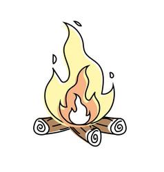 cute firewood to keep warm vector image