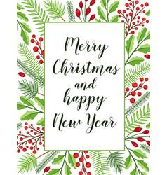 Decorative festive christmas greeting card vector