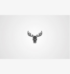 deer icon sign symbol vector image
