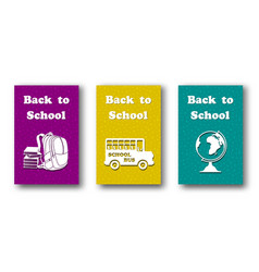 design template set for back to school vector image