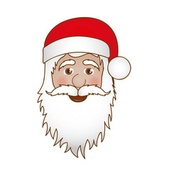 face cartoon santa claus portrait icon vector image