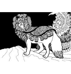 fantasy fox prince vector image